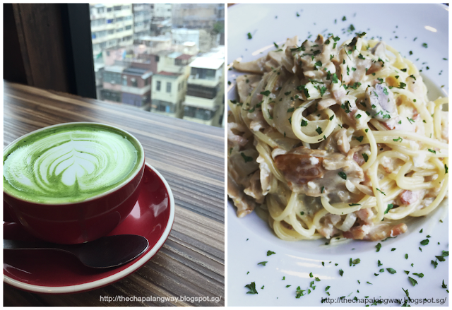 matcha latte, cafe dream, dragon centre, shopping in hk, things to do in hk, food in hk, openrice recommended, carbonara pasta