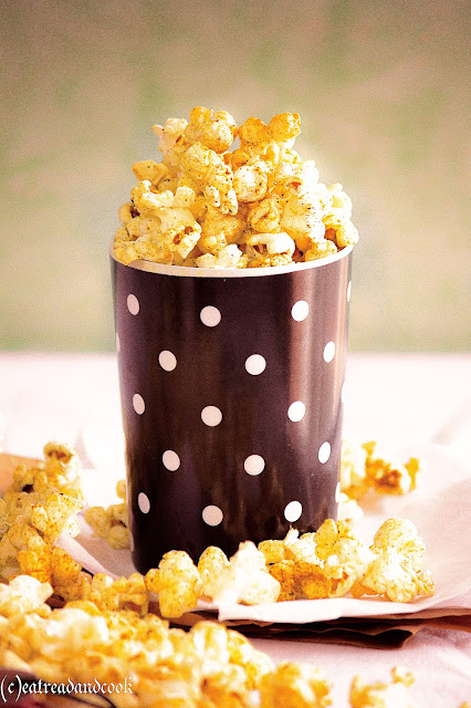 homemade theater style butter popcorn recipe with spicy masala recipe