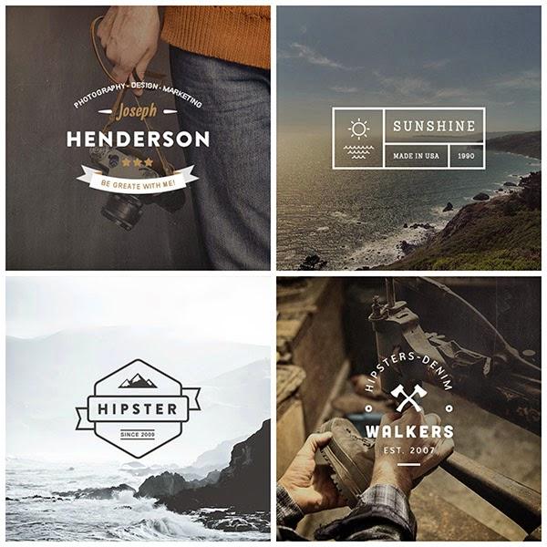 hipster logo templates, free psd, free logo templates 2014, free logo templates, vintage logo templates