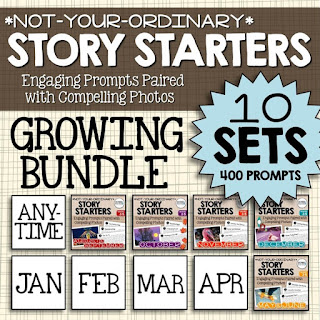 https://www.teacherspayteachers.com/Product/Story-Starters-GROWING-BUNDLE-Not-Your-Ordinary-Writing-Prompts-2216139
