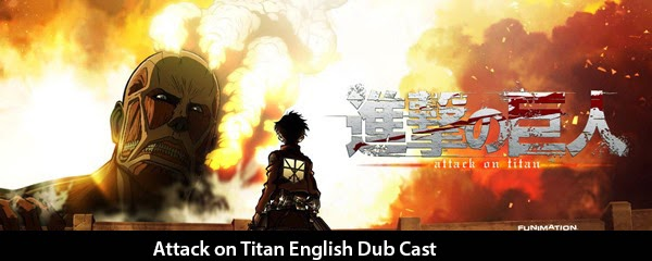 English Dub Cast of Attack on Titan