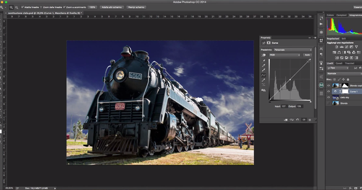 Come scontornare e sostituire il cielo con Photoshop - Tutorial