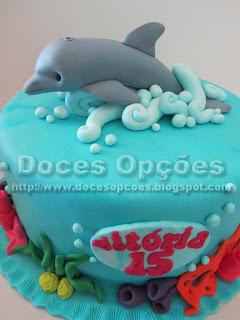 bolo aniversário golfinho