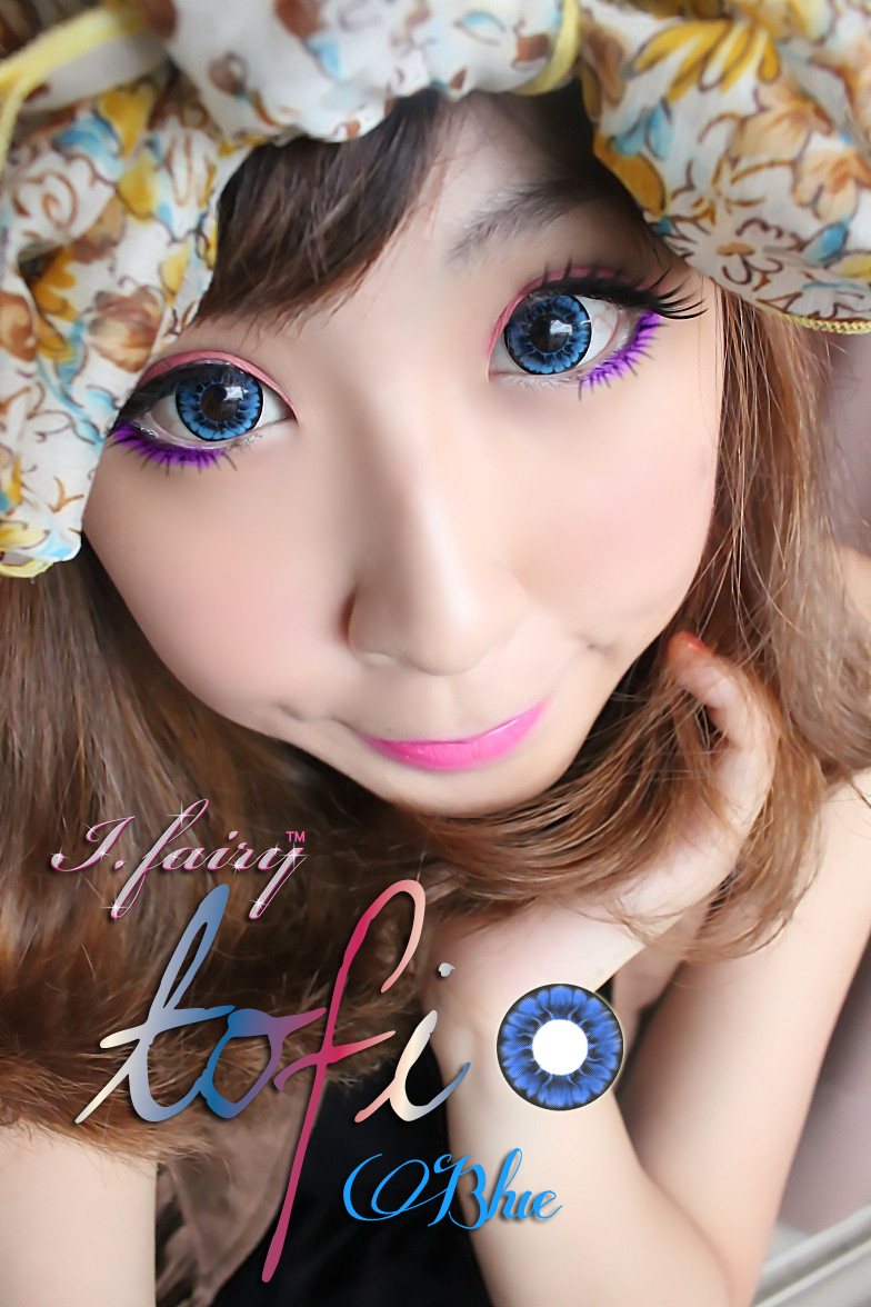 I.Fairy Tofi Blue circle lens
