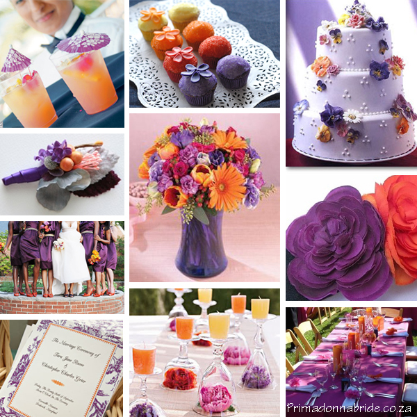 GET THE LOOK Orange Purple Themed Wedding