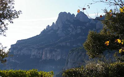 Vista montaña de Montserrat