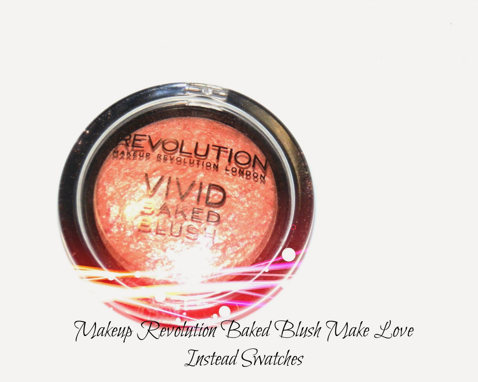 Makeup Revolution Baked Blush Make Love Instead Swatches