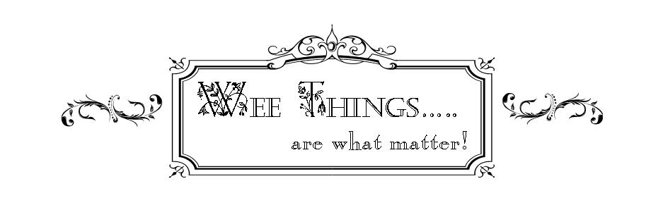 Wee-Things..... are what matter