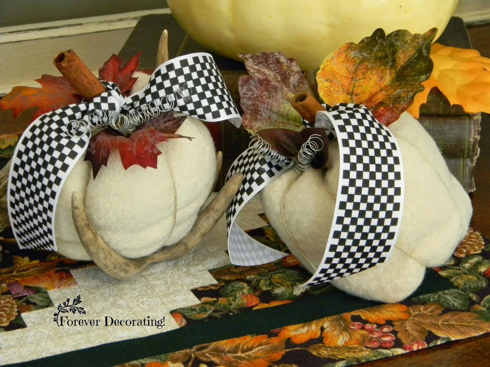 Wool Pumpkin Tutorial- Forever Decorating- Halloween Decorations-Treasure Hunt Thursday -From My Front Porch To Yours