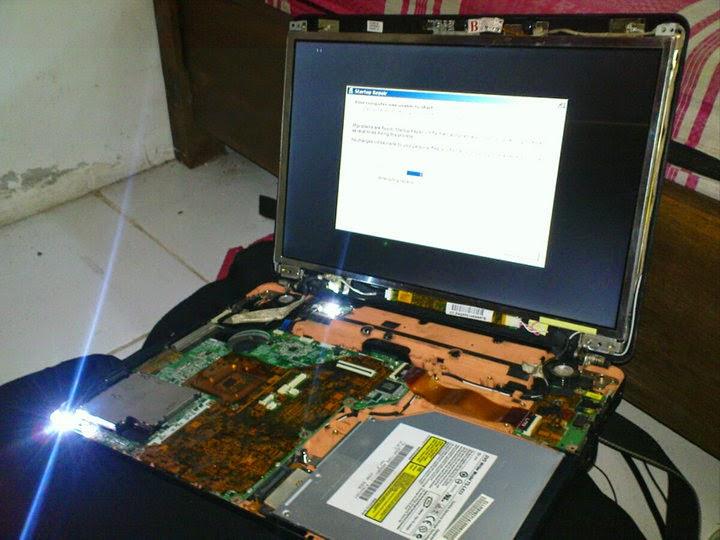 cara mengetahui kerusakan notebook dan laptop dan memperbaikinya