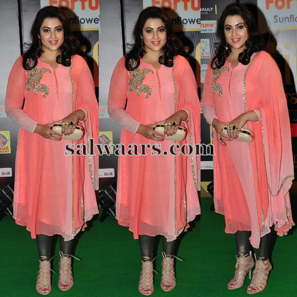 Meena Peach Color Salwar