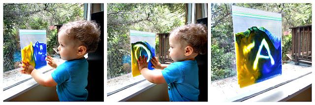Paint baggie activity