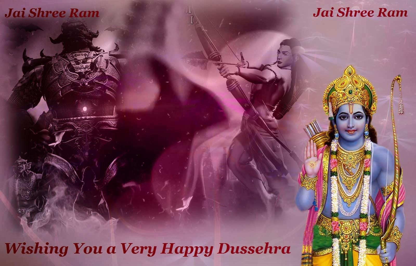 Vijayadashami Dasara Dussehra Greetings Wishes Wallpaper Message