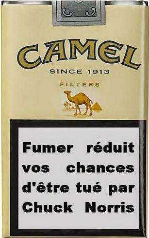 image humoristique fumer réduit ses chances d'être par chuck norris