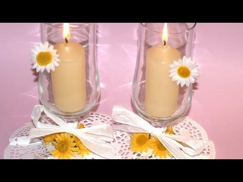 centros de mesa para bautizos con velas
