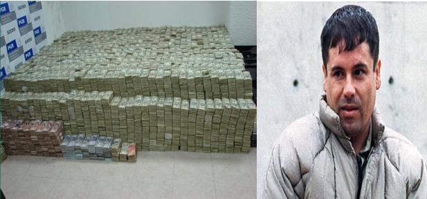 """La DEA confirma captura del """"Chapo"""" Guzman y tiene sus huellas digitales. Chapo+dinero"""