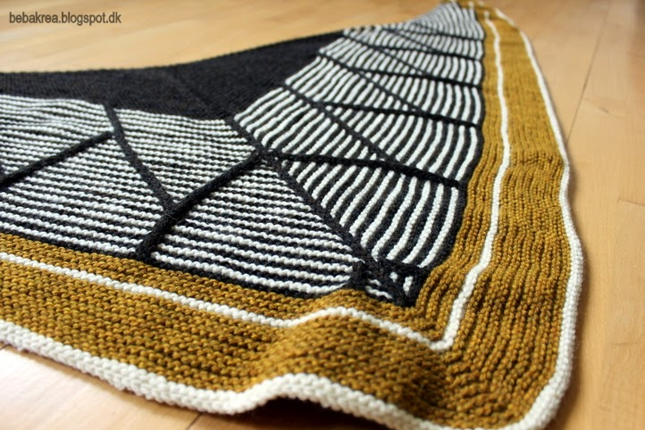 strikket sjal Westknits Barndom Stephen West