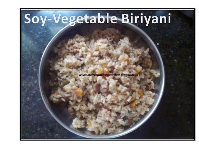 Soy- Vegetable Biriyani