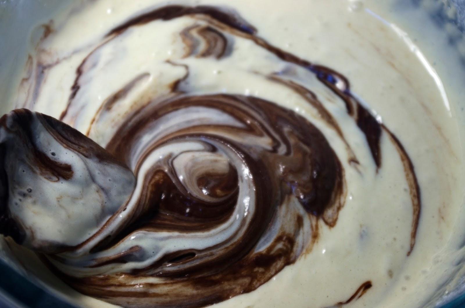 añadir chocolate fundido