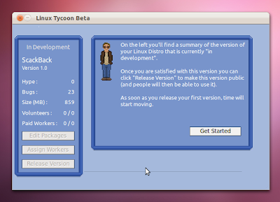 Linux Tycoon Main Screen