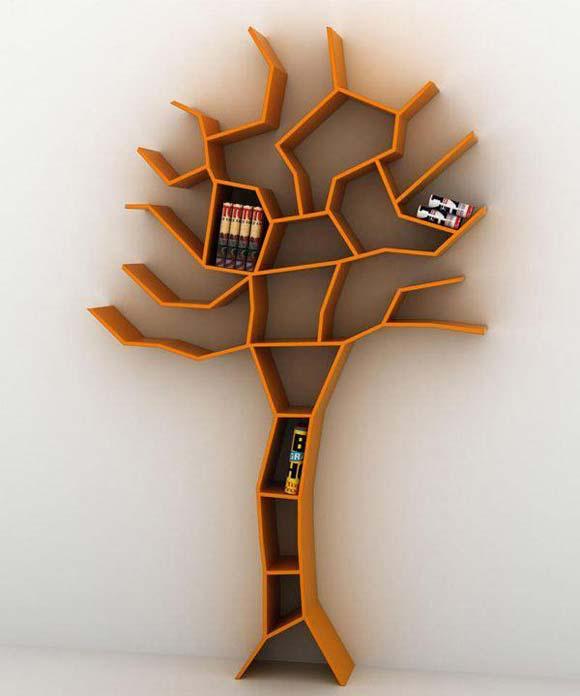 estantería árbol