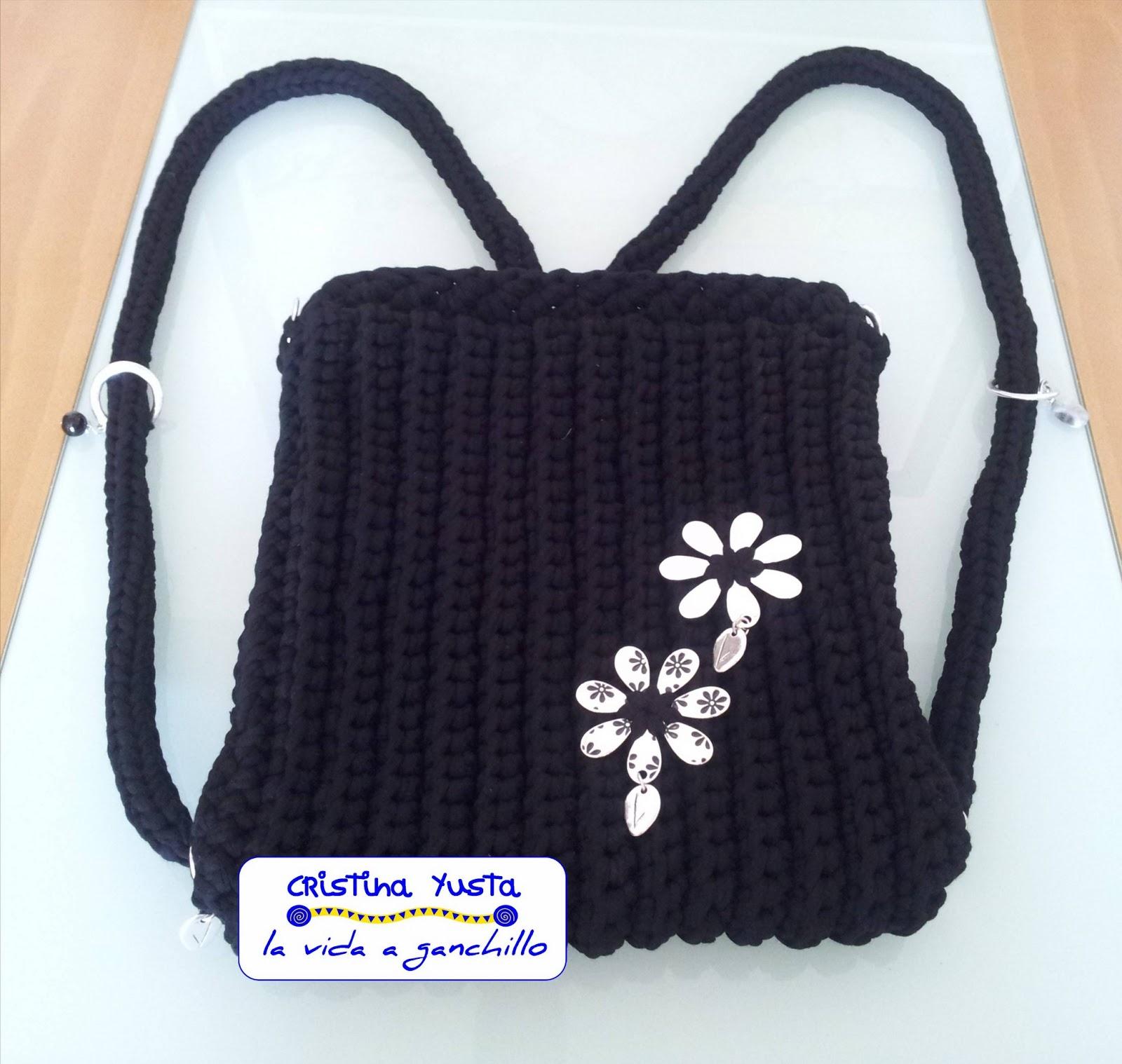Bolsos y mochilas a crochet for Bolso crochet trapillo