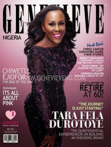 TARA FELA DUROTOYE COVERS MAY ISSUE OF GENEVIEVE MAG + THEIR 13TH WEDDING ANNIVERSARY PHOTOS