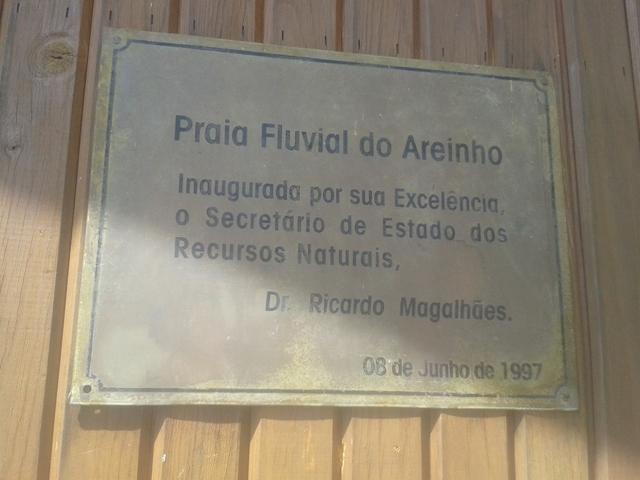 Data Inauguração Praia Fluvial Areinho