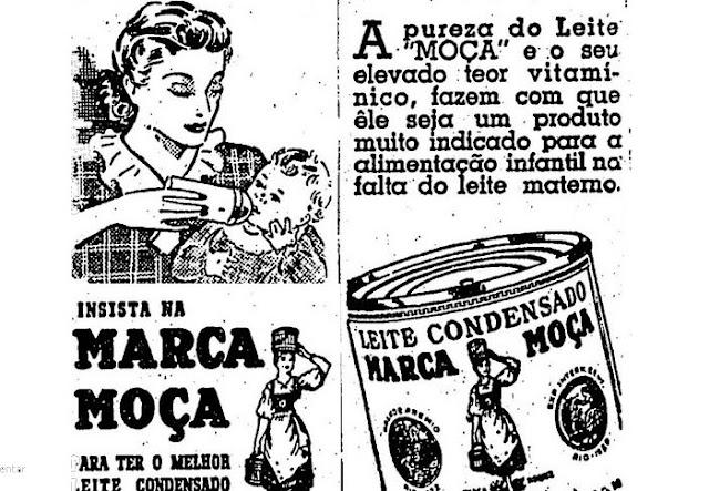 Leite Moça como complemento alimentar para bebês, em 1949.