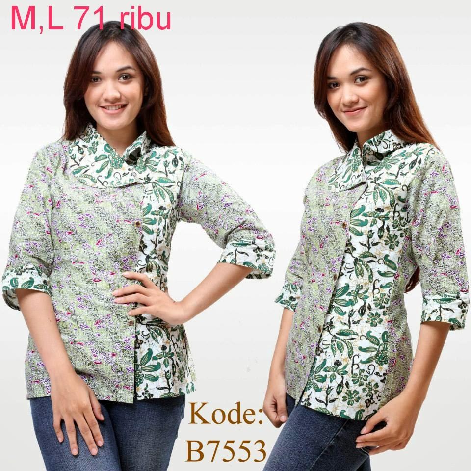 Model Baju Atasan Batik Wanita Modern Model Baju Batik