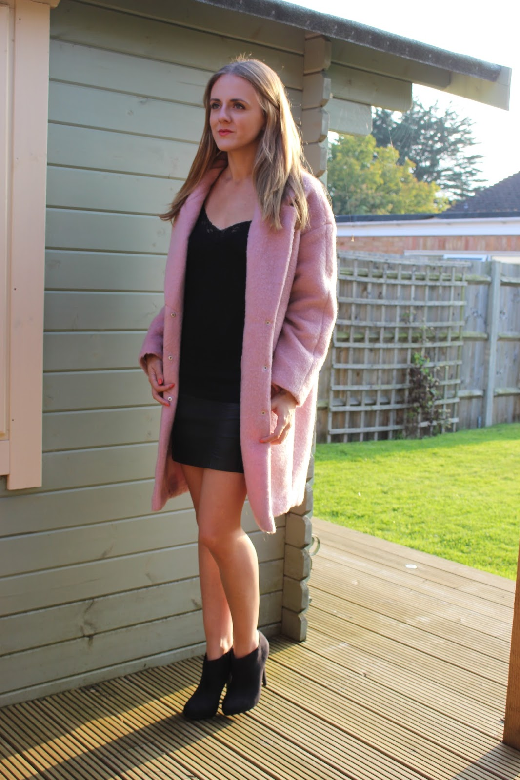 Pink Cocoon Coat - Lottie Pearce