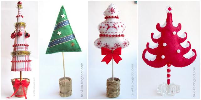 новогодние елочки своими руками christmascraft