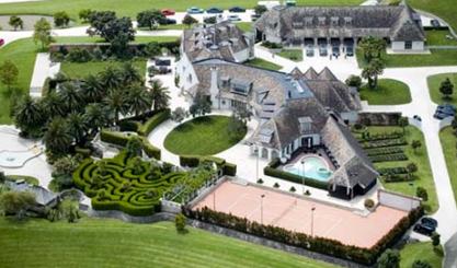 exterior of kim dotcoms new zealand mansion rental home