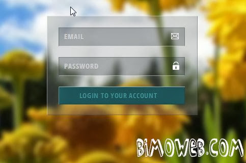 Transparent Login form Style