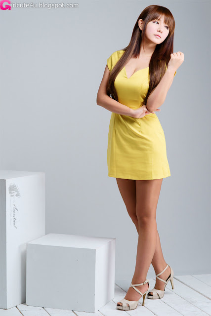 5 Ryu Ji Hye in Yellow-very cute asian girl-girlcute4u.blogspot.com