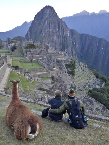 Machu Picchu muito bem acompanhados!