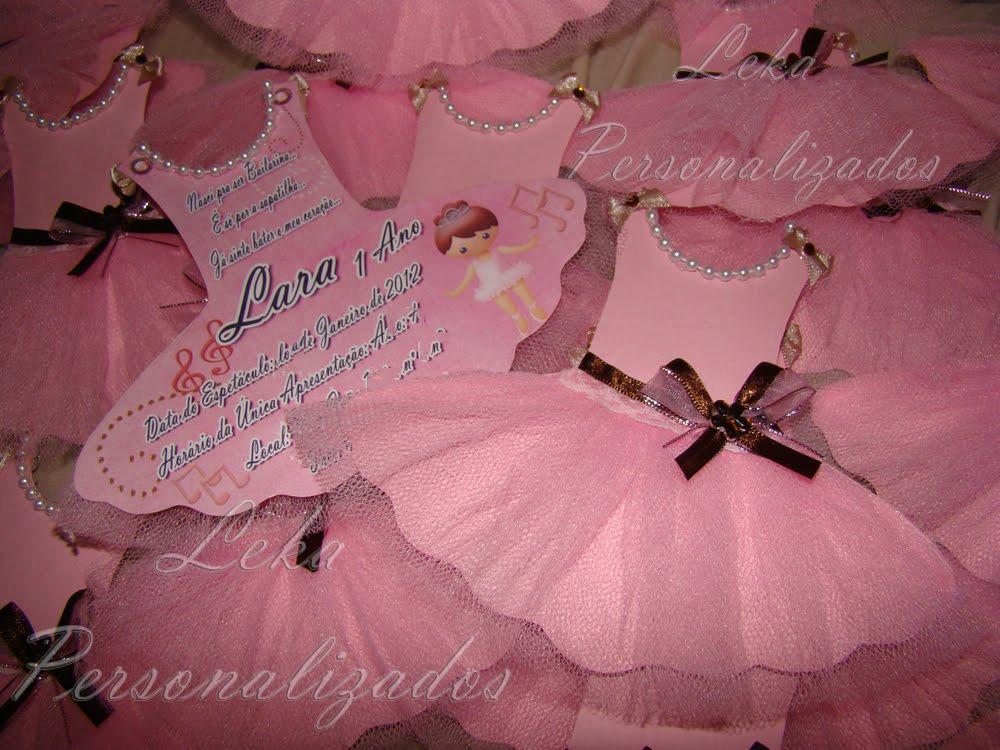 Leka Personalizados Bailarinas Marrom Com Rosa Da Lara