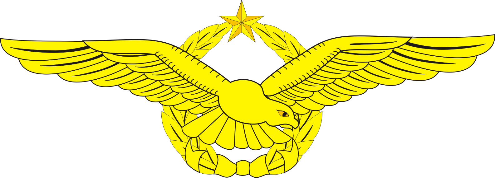 Gambar Brevet Wing Penerbang Tni Au Logo Lambang Indonesia