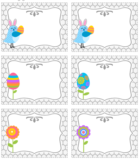Frugal life project free printable easter treat bag topper and tags free printable easter treat bag topper and tags put some candy in snack size baggies and add these easter toppers and youve got cute treats for the kids negle Image collections