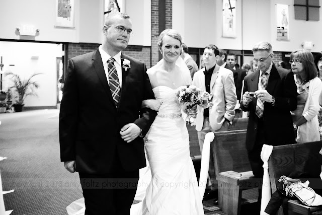 Wedding ceremony at Christ the King Catholic Church in Indianapolis.
