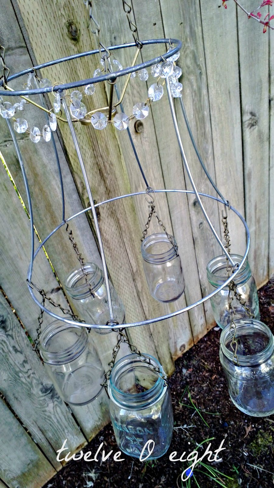 Mason jar chandelier how to make a chandelier mason jar jar upcycle recycle repurpose arubaitofo Image collections
