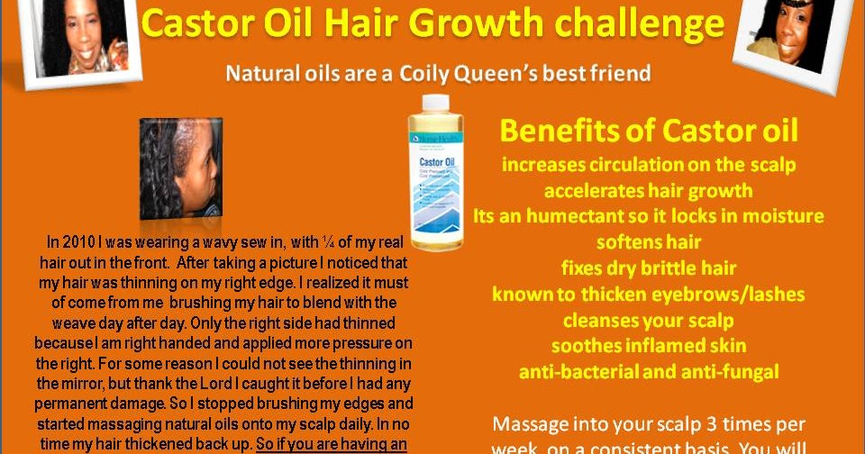 CoilyQueens Castor Oil Hair Growth Challenge