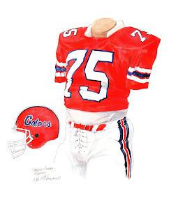 1984 University of Florida Gators football uniform original art for sale