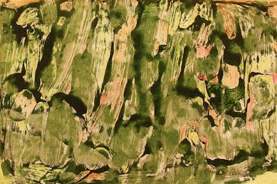 Monotipia em verde  de Elma Carneiro  em óleo s/papel canson