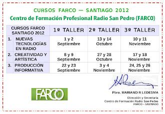 FECHAS CURSOS 2012