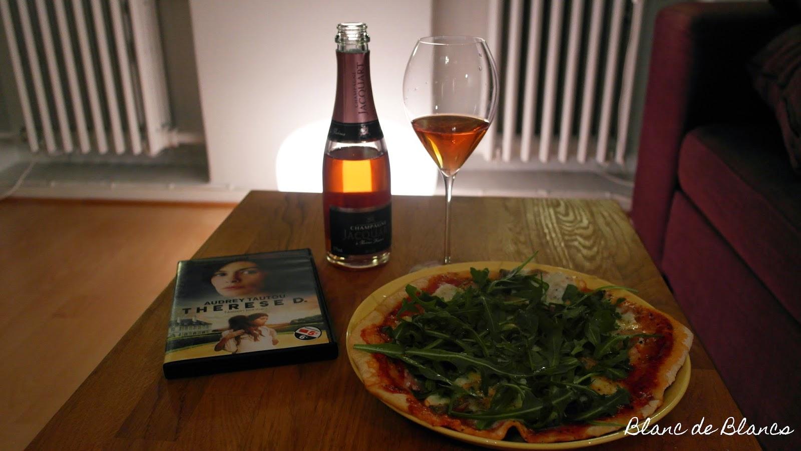 Jacquart Rosé, pizza ja ranskalainen elokuva - www.blancdeblancs.fi