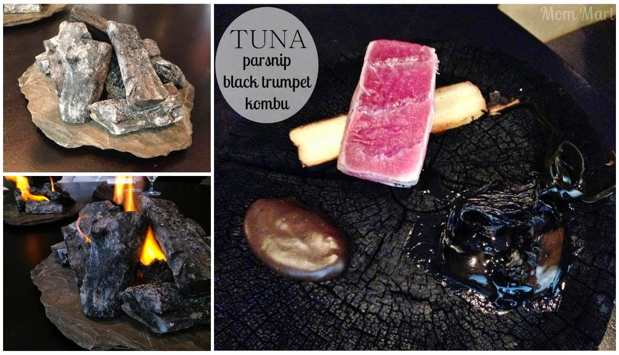 Alinea Restaurant of Chicago: TUNA: parsnip, black trumpet, kombu