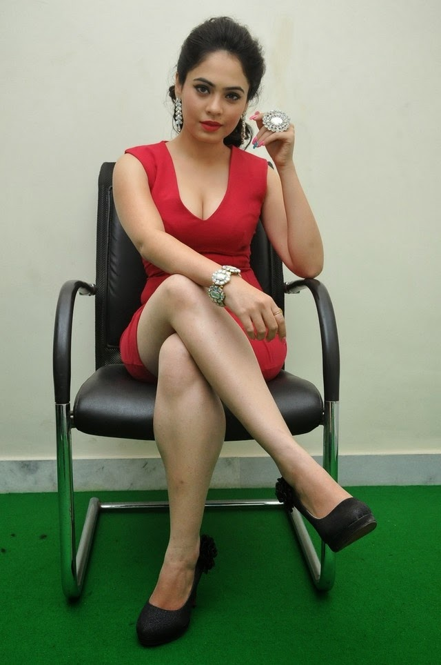 Malobika Banerjee In Red Hot Dress New Stills