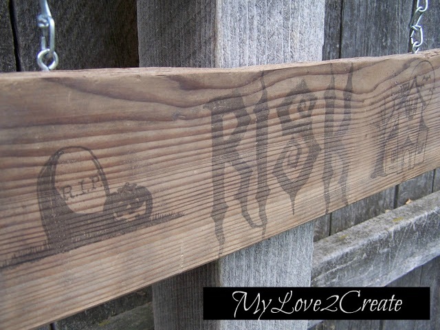 MyLove2Create, Spooky Halloween Sign