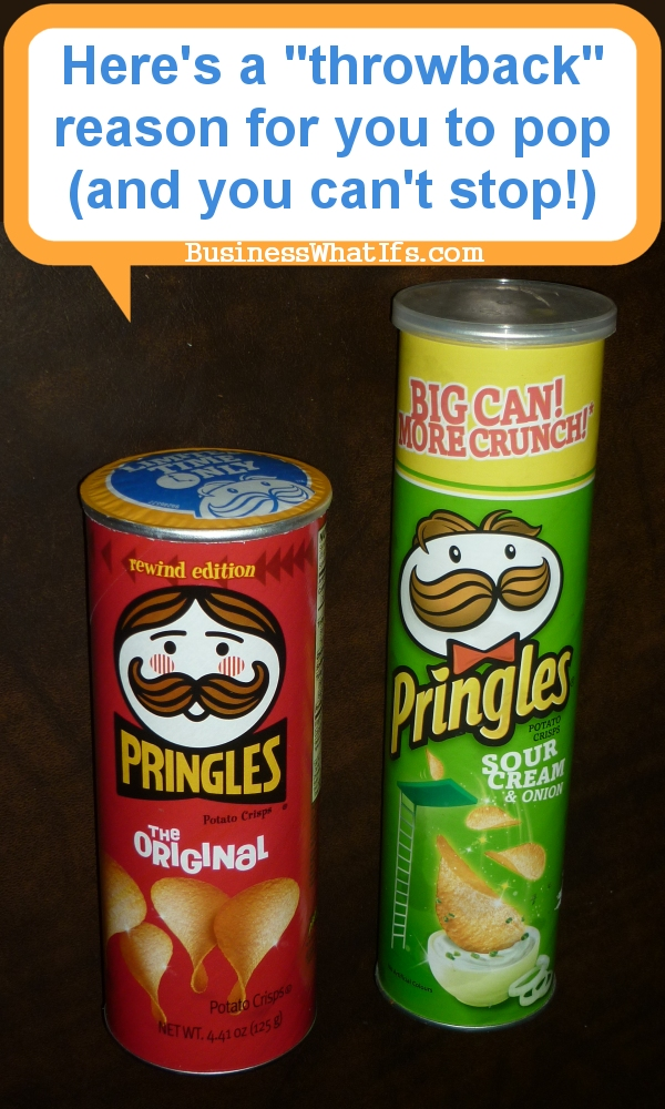 Pringles Rewind Edition Can Throwback Marketing Campaign